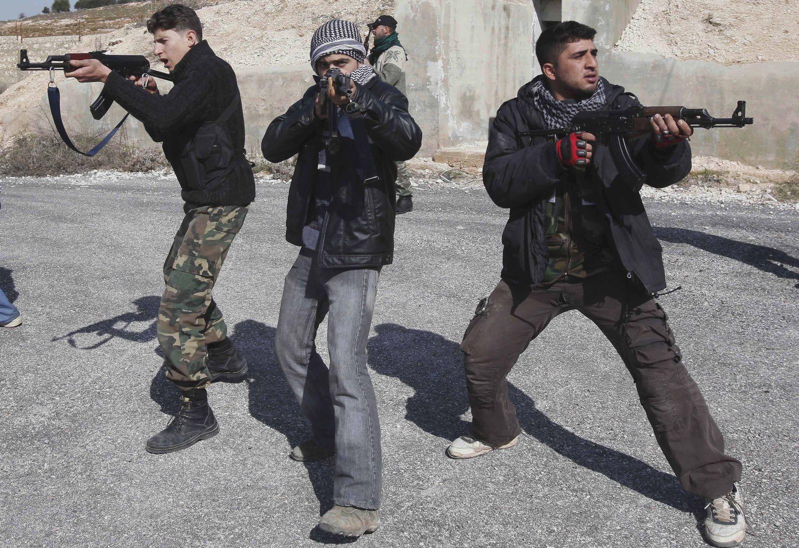 Rebellen Training Syrien Idlib