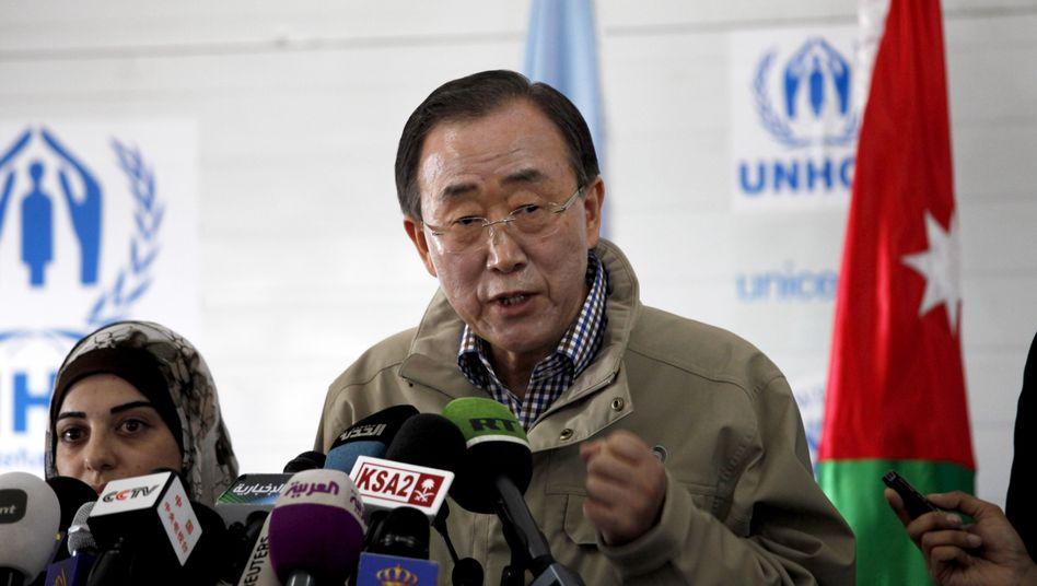 """Uno-Generalsekretär Ban Ki Moon: """"Anlass für ernste Besorgnis"""""""