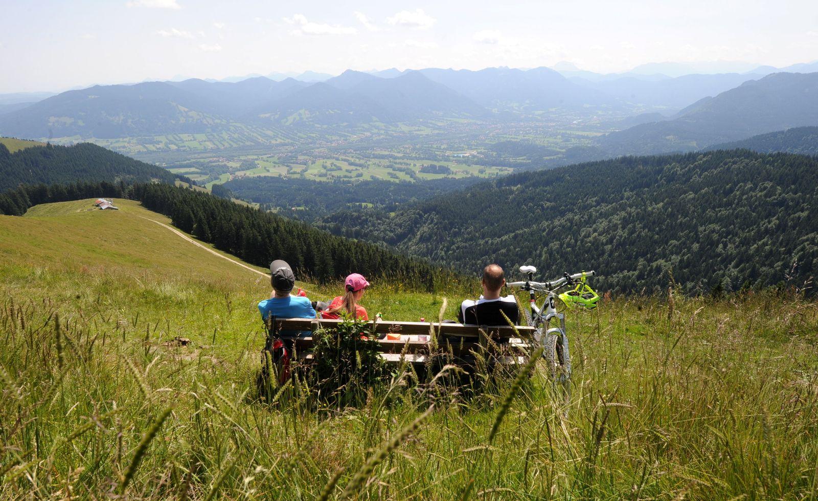 Pause in den Bergen