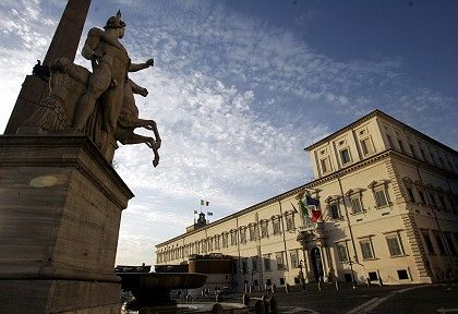 The Quirinale Presidential palace in Rome.