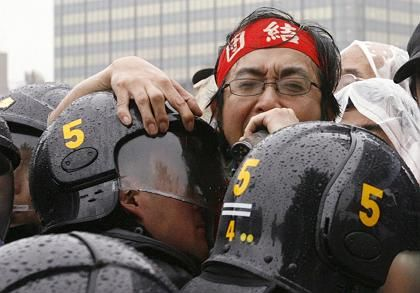 Globalisierungsgegner in Tokio: Auch beim Gipfel selbst soll es Proteste geben