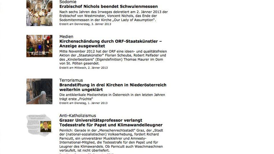 Screenshot von Kreuz-net.info: Autoren von 'kreuz.net' willkommen