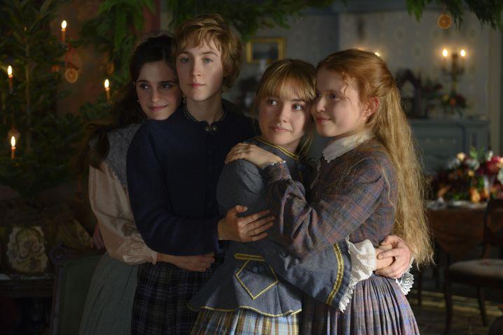 """Emma Watson, Saoirse Ronan, Florence Pugh und Eliza Scanten als March-Schwestern in der """"Little Women""""-Neuauflage von Greta Gerwig"""