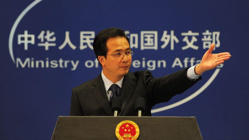 Sprecher des Außenministeriums Hong Lei (Archivbild): China sieht sich selbst als Opfer