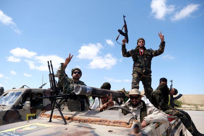 Truppen des Warlords Haftar