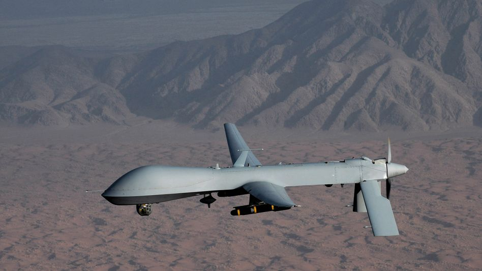 Does Germany's constitution allow the use of armed drones, such as this American one?