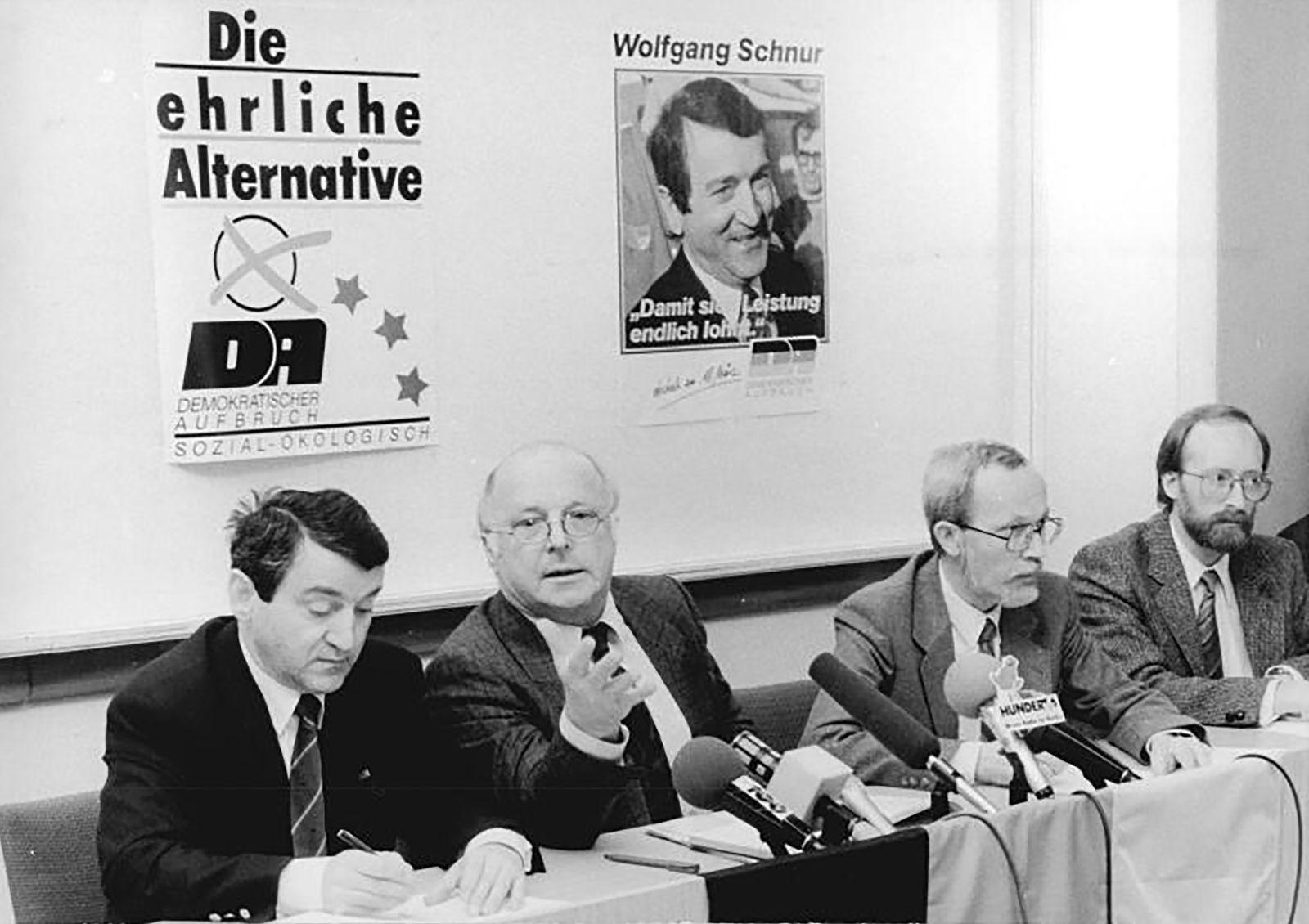 Volkskammerwahl 1990 - Berlin, Volkskammerwahl, Pressekonferenz Allianz für Deutschland
