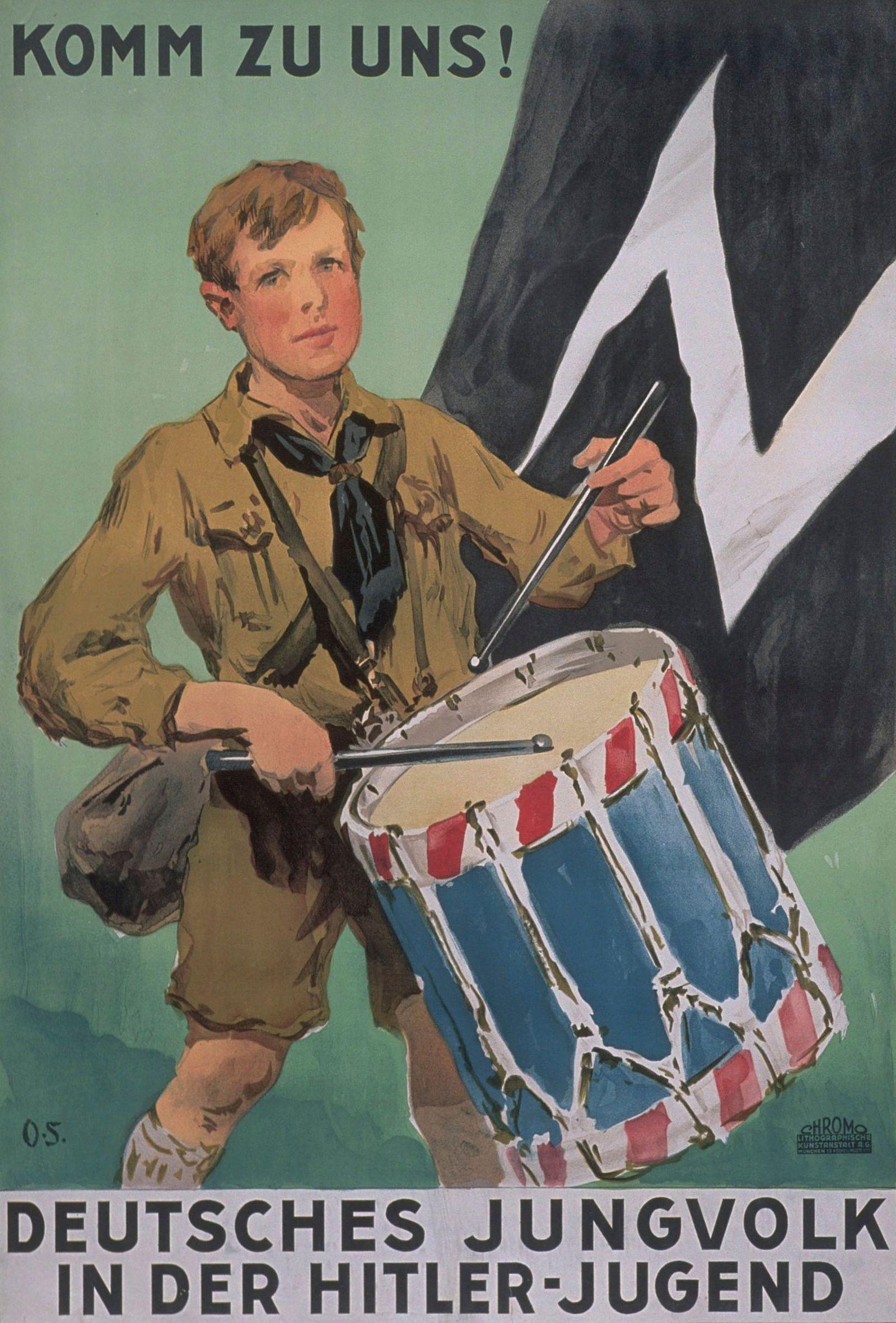 """""""Komm zu uns! - Werbeplakat fŸr das Jungvolk in der Hitlerjugend"""