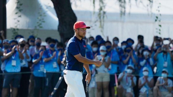 Xander Schauffele beim olympischen Golfturnier