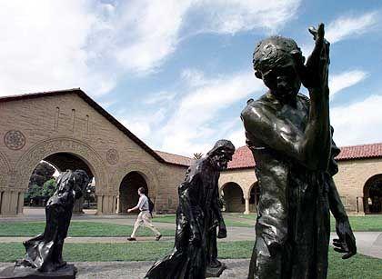Skulpturen in Stanford: Eliteunis begehrt