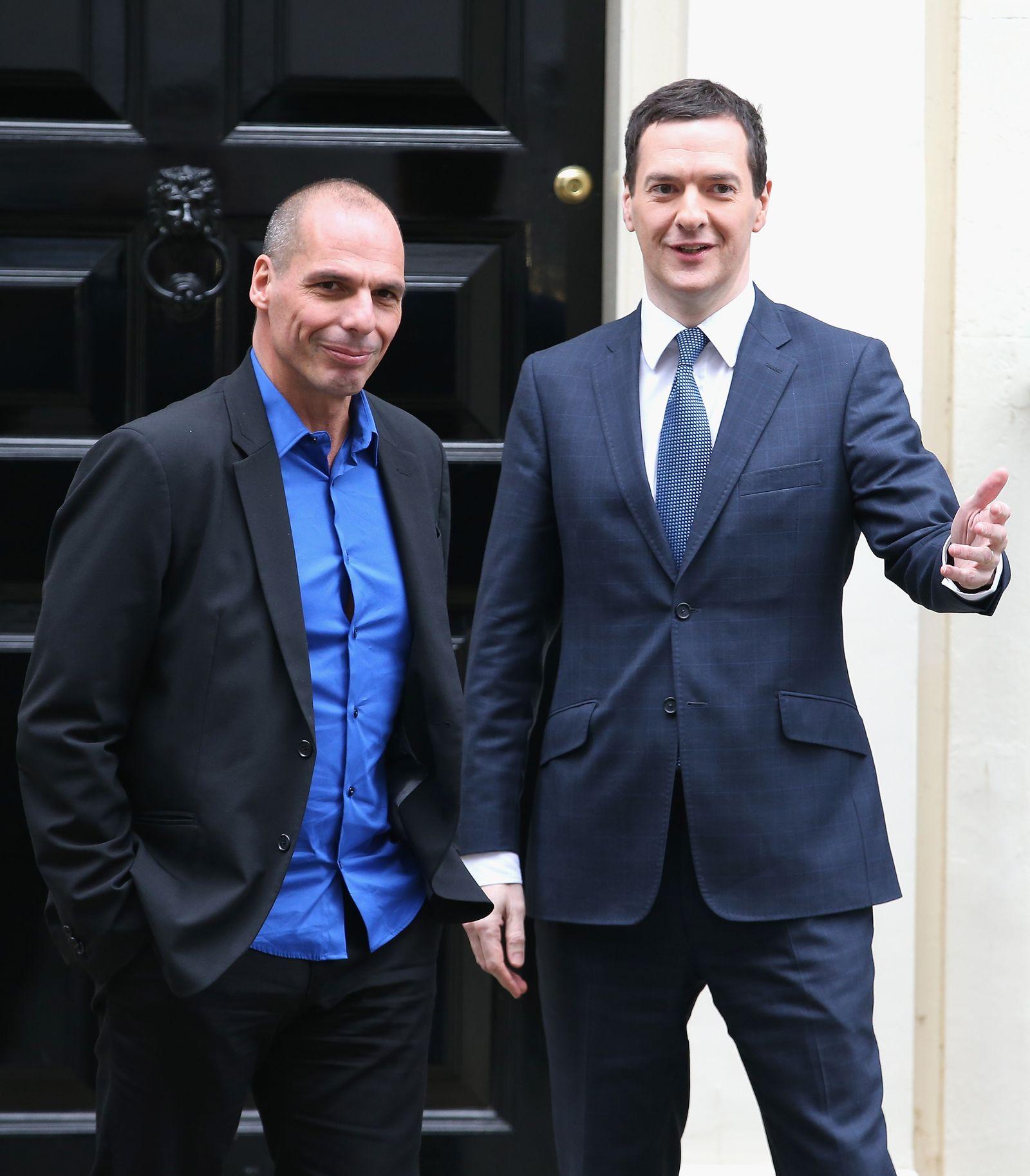 Varoufakis / Osborne / griechische Road Show