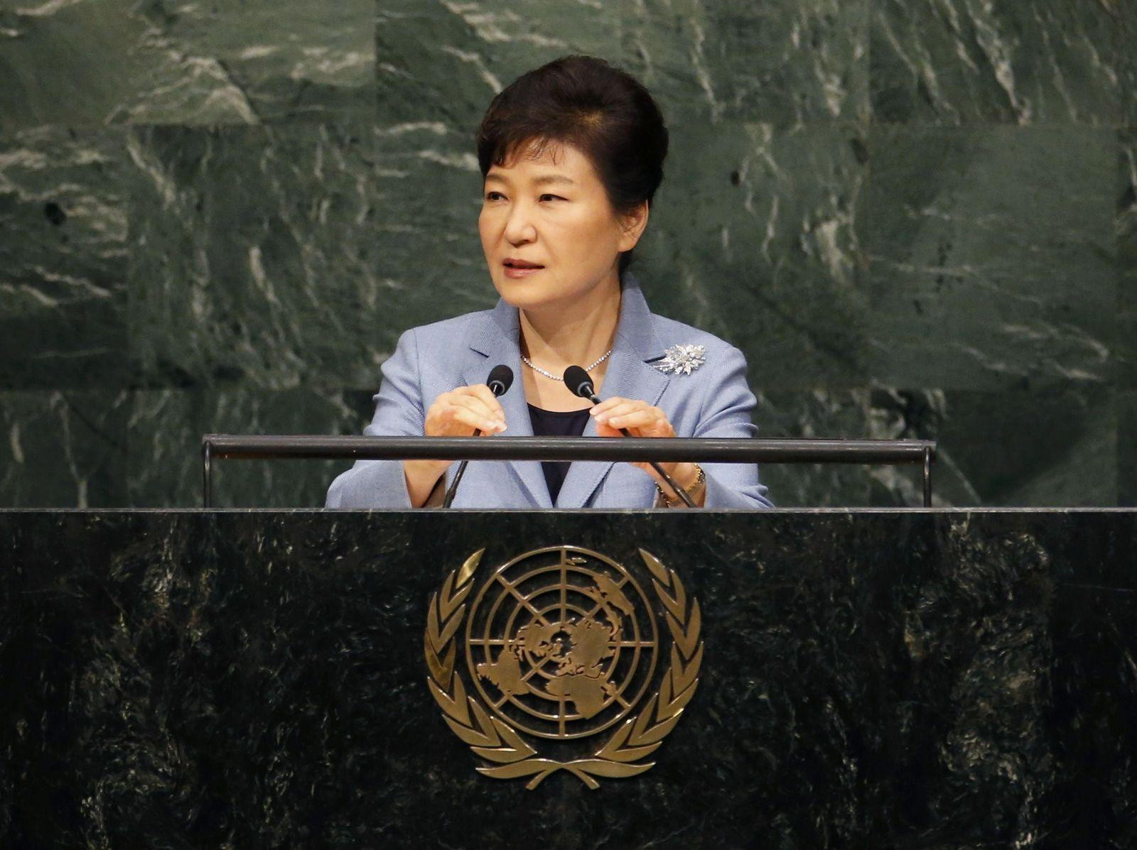 Park Geun Hye Uno-Generaldebatte