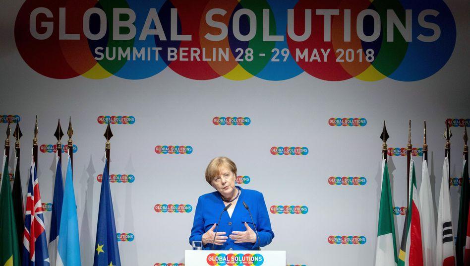 Angela Merkel beim Global Solutions Summit