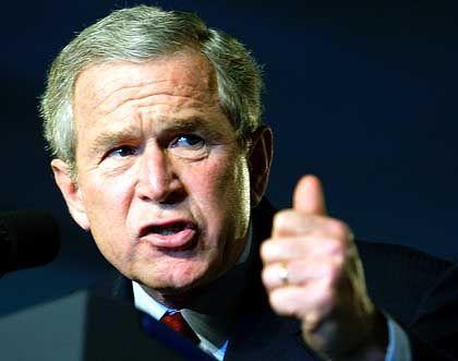 George W. Bush: Das Bild des US-Präsidenten löst Aggressionen aus