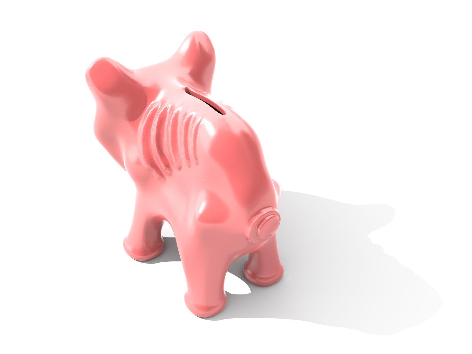 Thin piggy bank