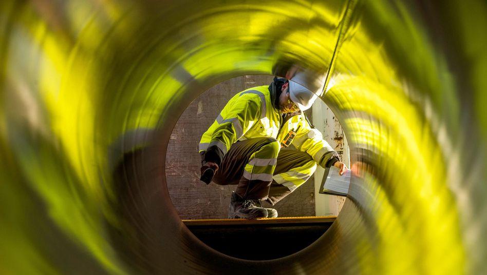 Rohre für die Gas-Pipeline Nord Stream 2