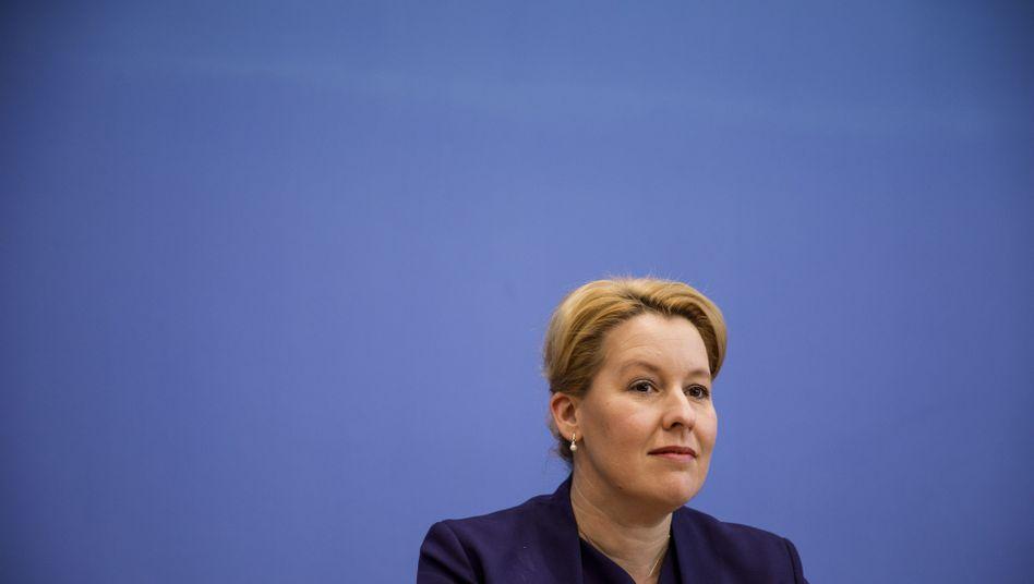 Familienministerin Franziska Giffey: Blieb SPD-Kandidatenrennen wegen des Verfahrens fern