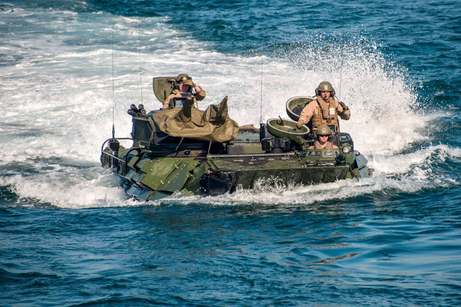 March 9, 2020 - Atlantic Ocean - Marines assigned to 2nd Assault Amphibian Battalion (2nd AABN), 2nd Marine Division bas