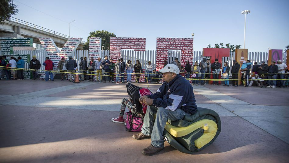 Migranten in Tijuana