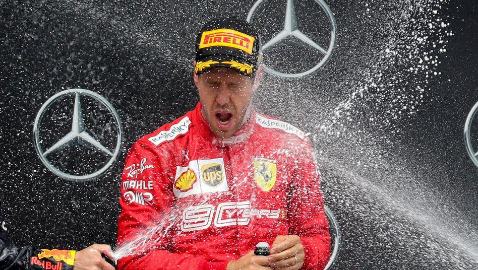 Vettels Qualifying war noch katastrophal gelaufen, sodass er von Platz 20 ins Rennen ging