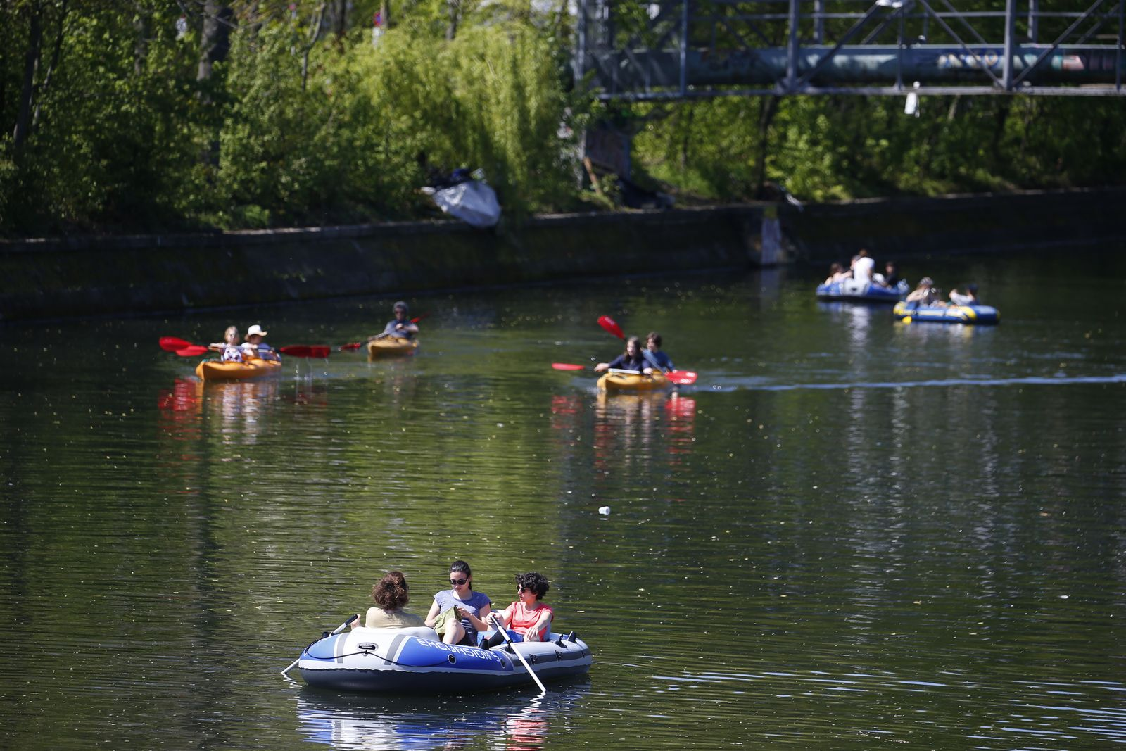 People Flock Outdoors In Spring Weather As Pandemic Eases