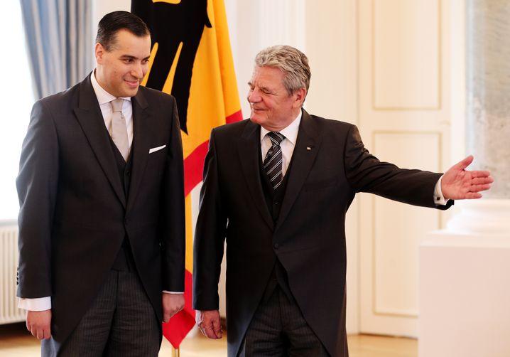 Mustafa Adib als Botschafter bei Bundespräsident Joachim Gauck (2013)