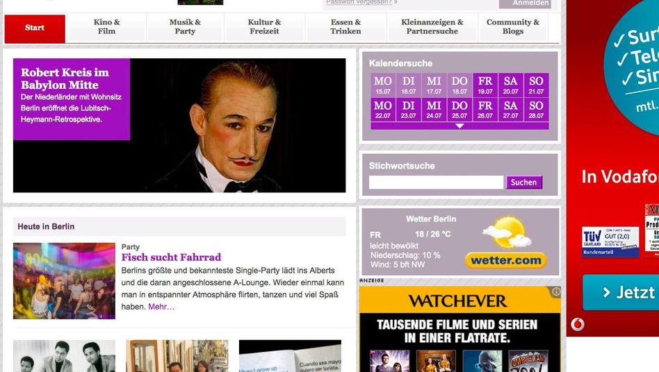 Screenshot der Internetseite tip-berlin.de