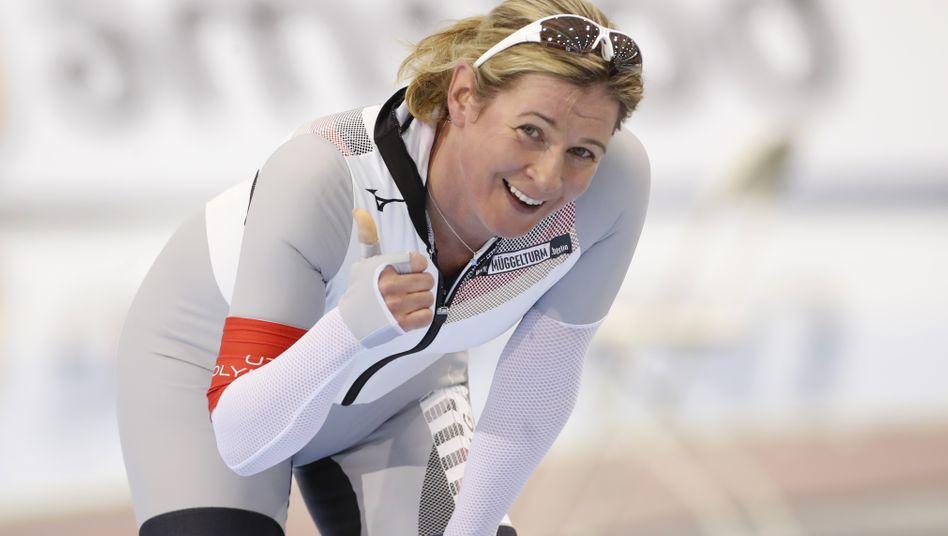Sportlich ist Claudia Pechstein auch mit 48 Jahren noch über Zweifel erhaben - dennoch gibt es wieder Streit um sie