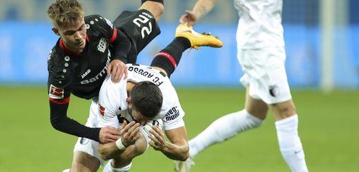 Fußball-Bundesliga: Bayer Leverkusen gewinnt gegen den FC Augsburg