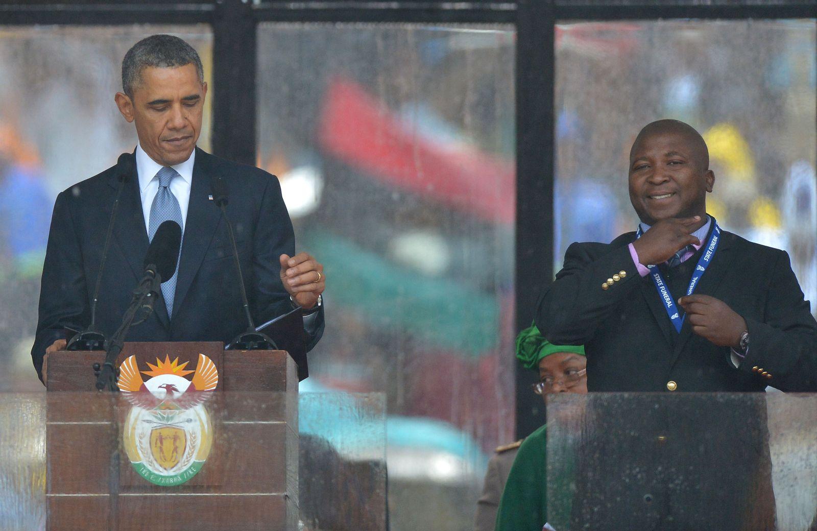 Thamsanqa Jantjie / Obama