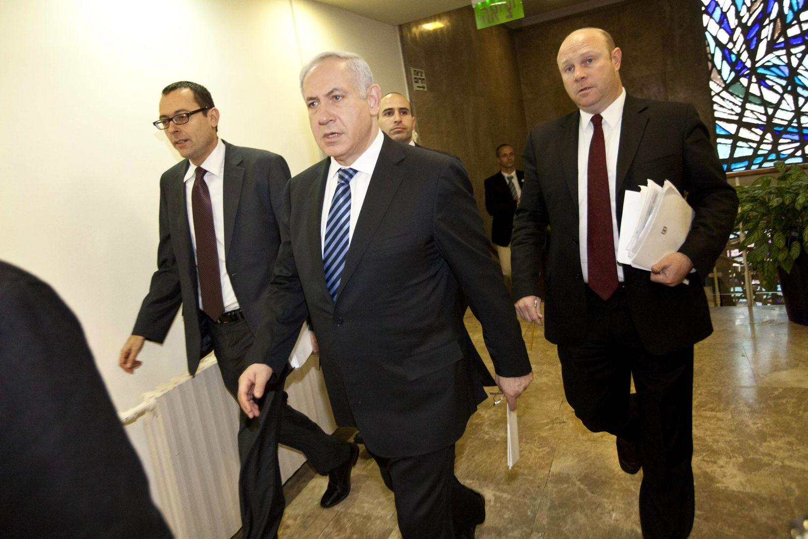 Benjamin Netanjahu Kabinettssitzung Jerusalem