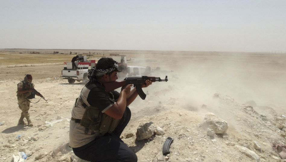A fighter in northern Iraq during an offensive against the jihadists from the Islamic State.