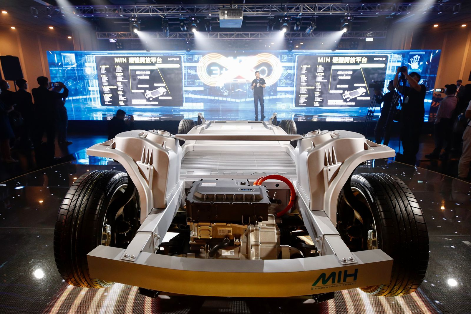 Foxconn unveils its first open electric car hardware and software platform, Taipei, Taiwan - 16 Oct 2020