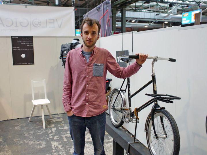 Joram van den Boezem mit 20-Zoll-Bike: leichter, wendiger