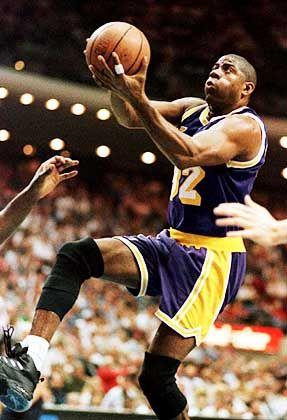 Führte die Lakers fünf mal zur NBA-Meisterschaft: Basketball-Profi Johnson