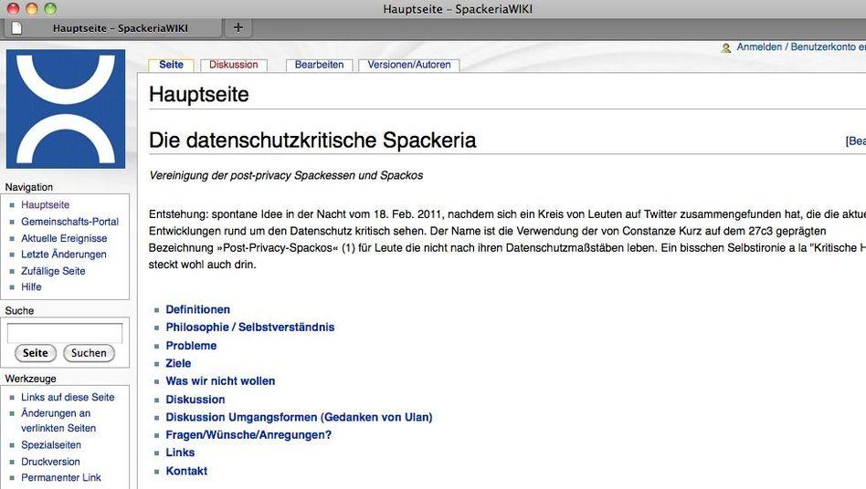"""Wiki der datenschutzkritischen Spackeria: """"Keine Macht den Datenschützern"""""""