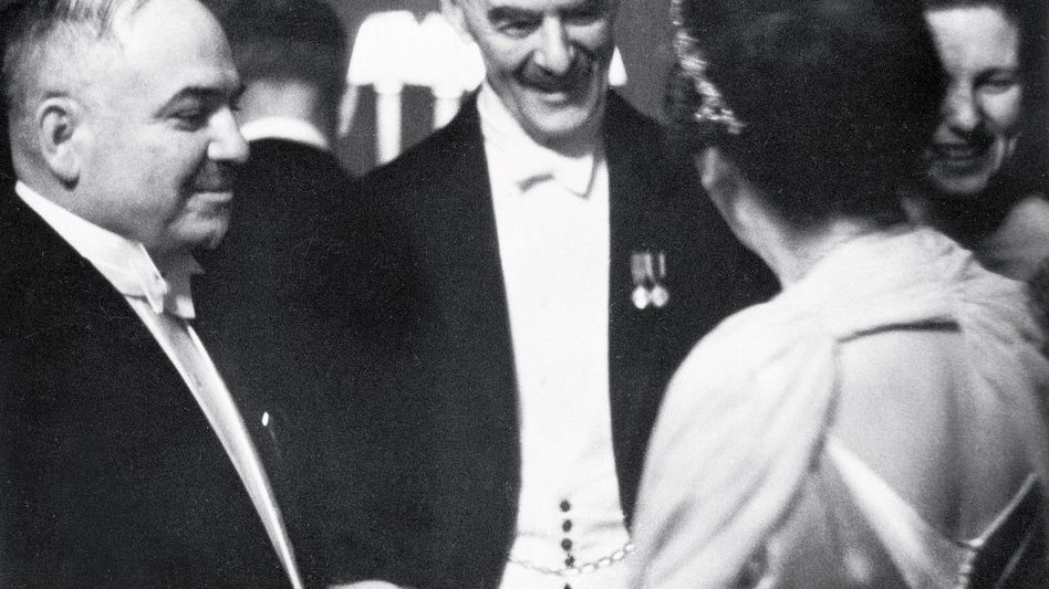 Diplomat Maiski mit Premier Chamberlain 1939: »Zeugen des Niedergangs«