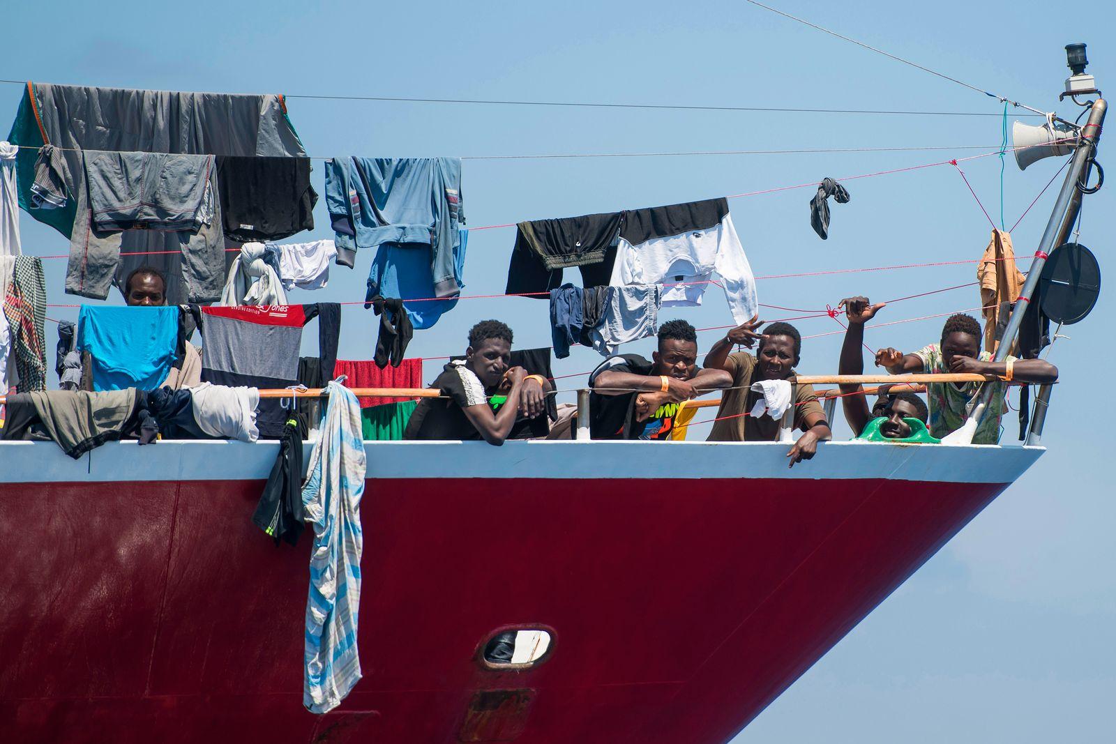 APTOPIX Malta Migrants Stranded At Sea