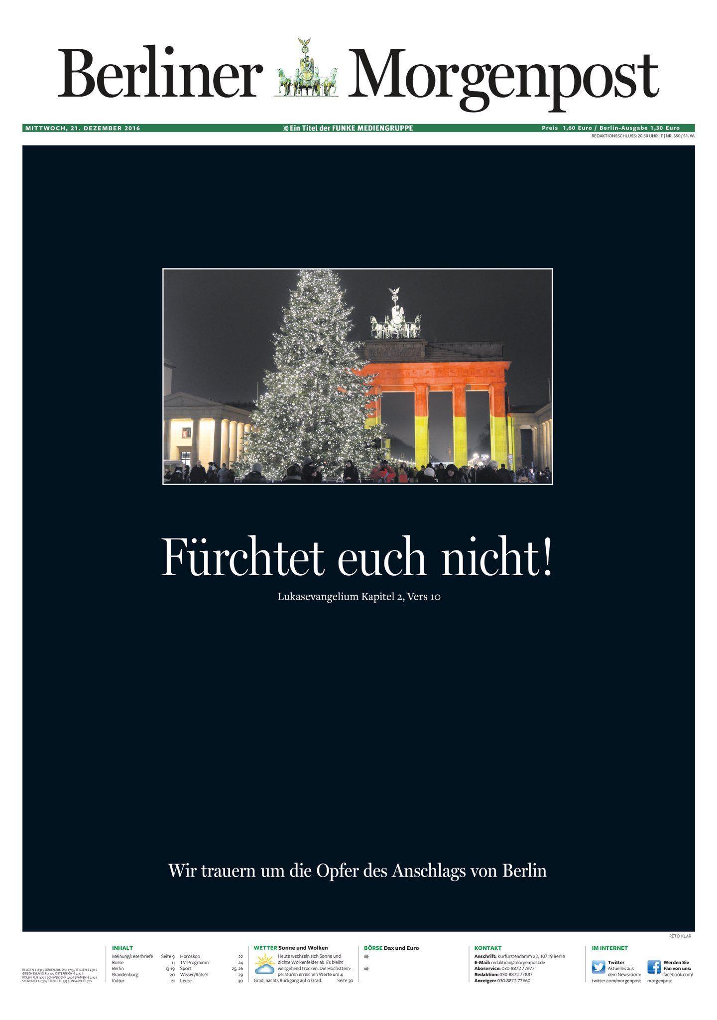 Cover Presseschau Berliner Morgenpost