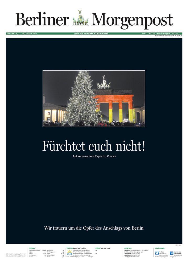 "Titelseite ""Berliner Morgenpost"""