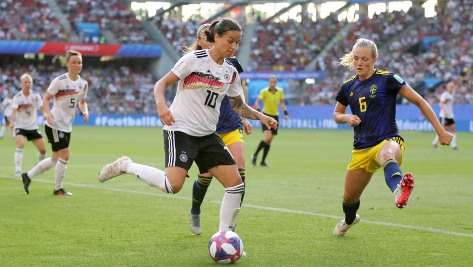 Dzseniger Marozsán und die deutsche Nationalmannschaft erreichten in Frankreich das Viertelfinale