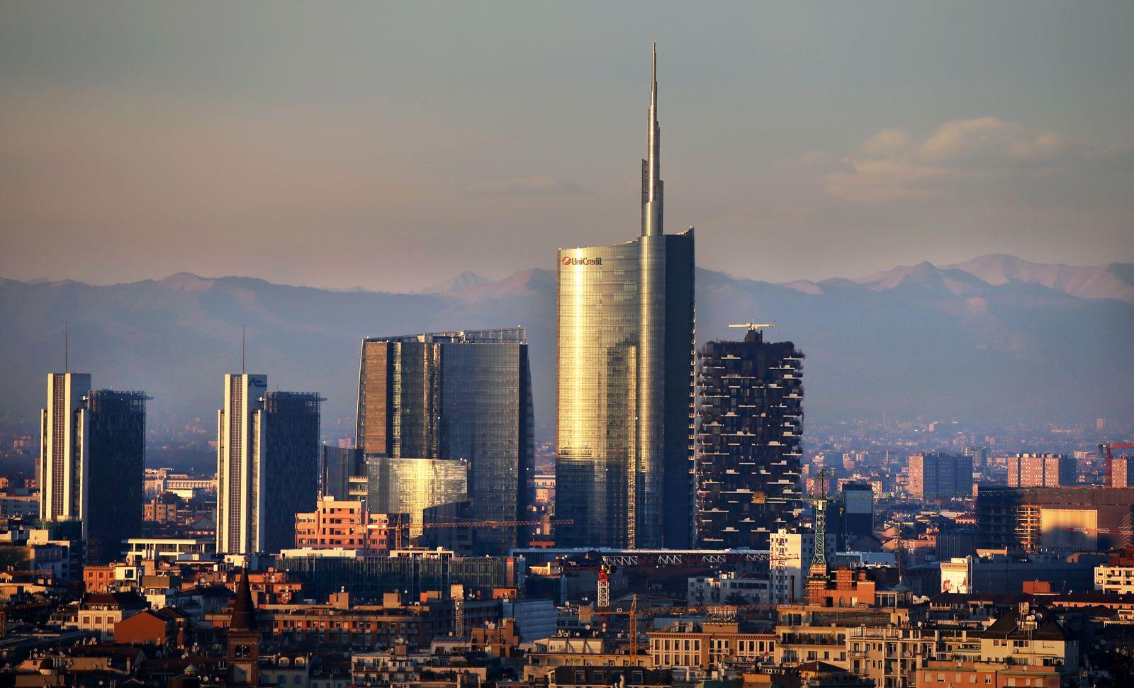 Italien / Konjunktur / Banken / Bankenviertel Mailand