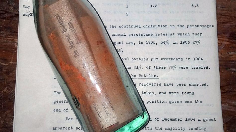 Rund tausend dieser Flaschen wurden einst von Großbritannien aus verschickt