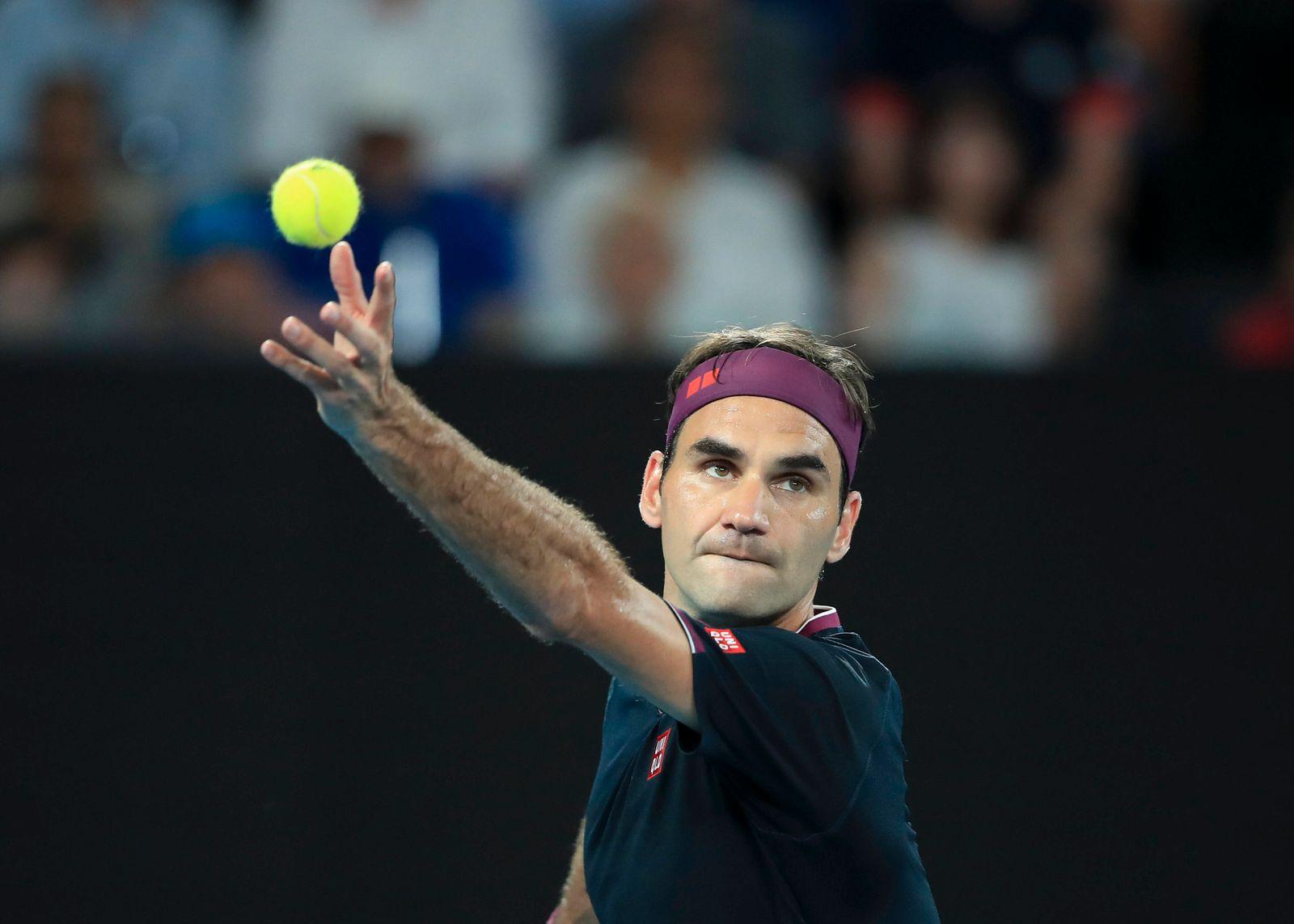 Roger Federer (SUI) Tennis - Australian Open 2017 - Grand Slam / ATP, Tennis Herren / WTA, Tennis Damen - Melbourne Par