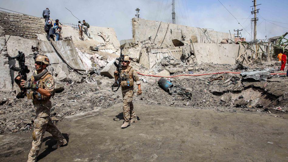 """Schauplatz des Anschlages auf den """"Green Village""""-Komplex in Kabul vom 2. September"""