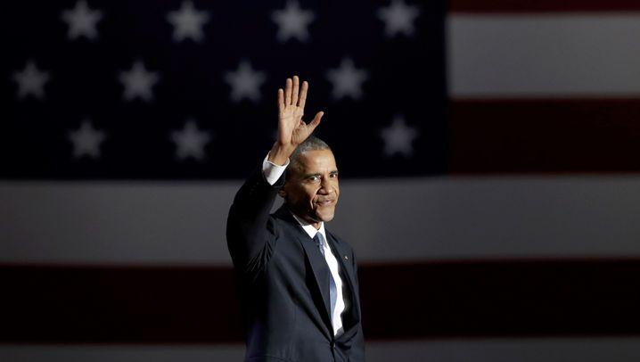 Obamas letzte Rede als Präsident: Tränen beim Abschied