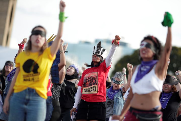 Demonstration gegen Gewalt gegen Frauen im Dezember 2019 in Brasília
