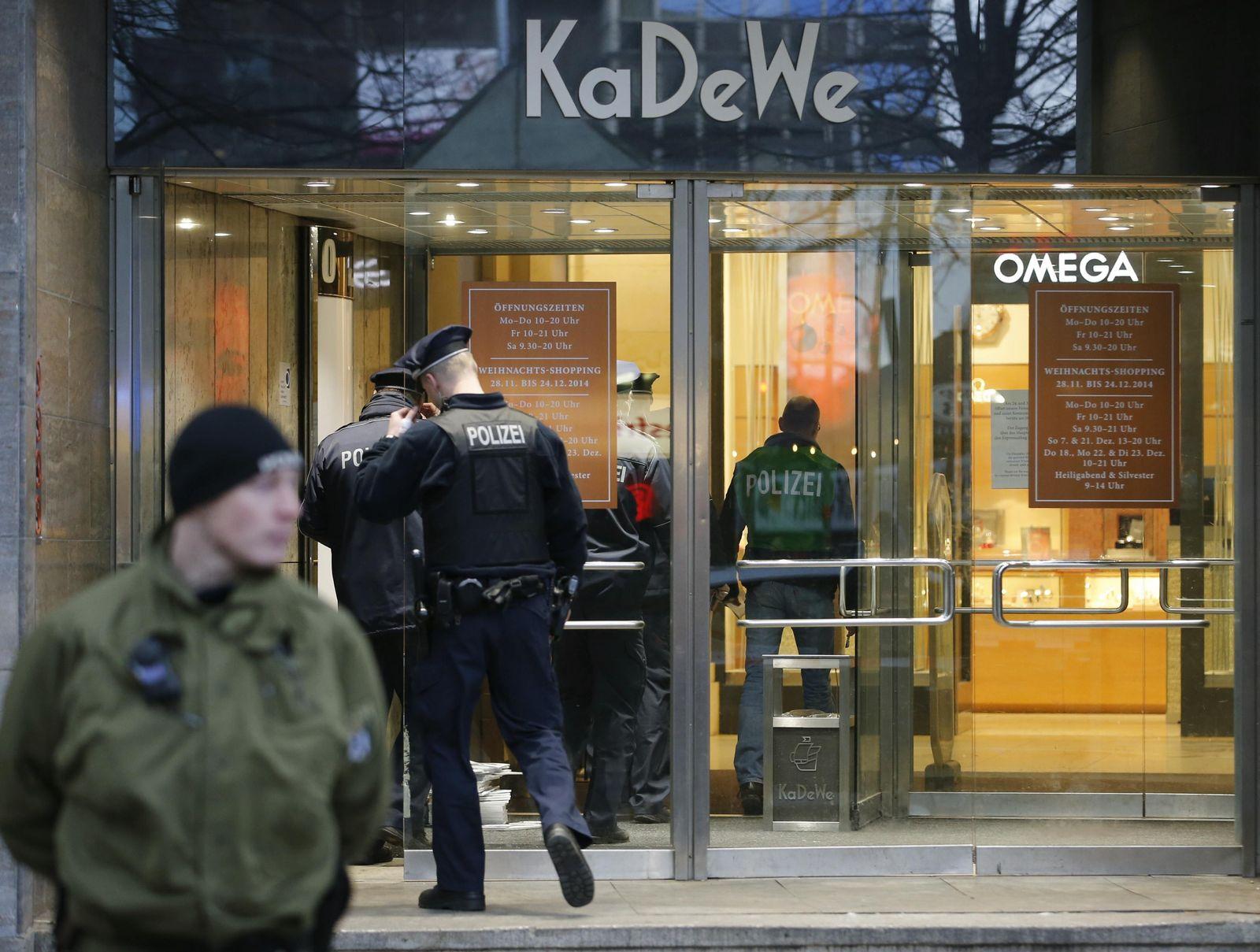 KaDeWe/ Überfall