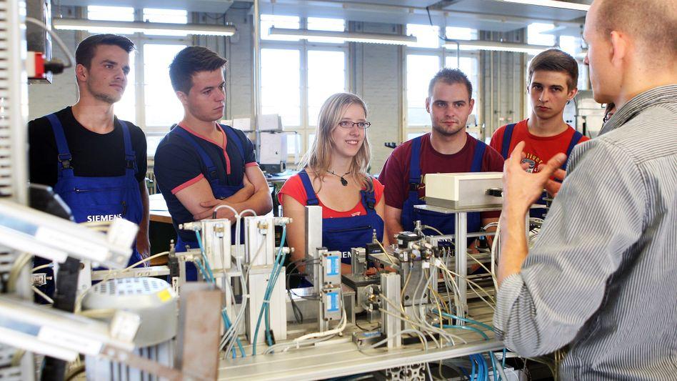 Siemens-Auszubildende in Berlin (Archivfoto)