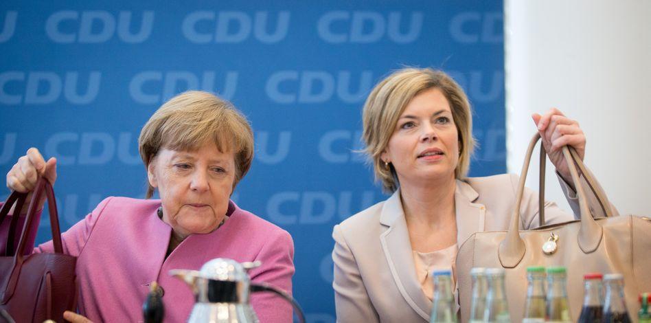 """CDU-Chefin Merkel, Vize Klöckner: """"Tirade"""" gegen die Kritiker"""